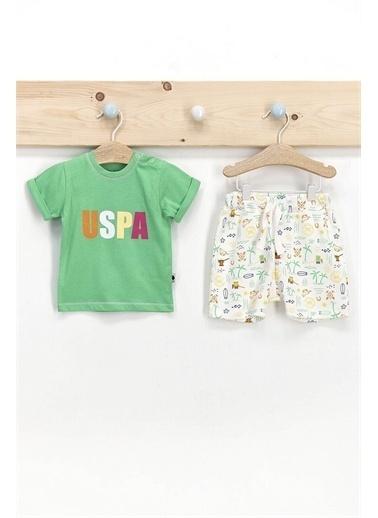 U.S. Polo Assn. U.S. Polo Assn Erkek Bebek 2Li Takım Yeşil